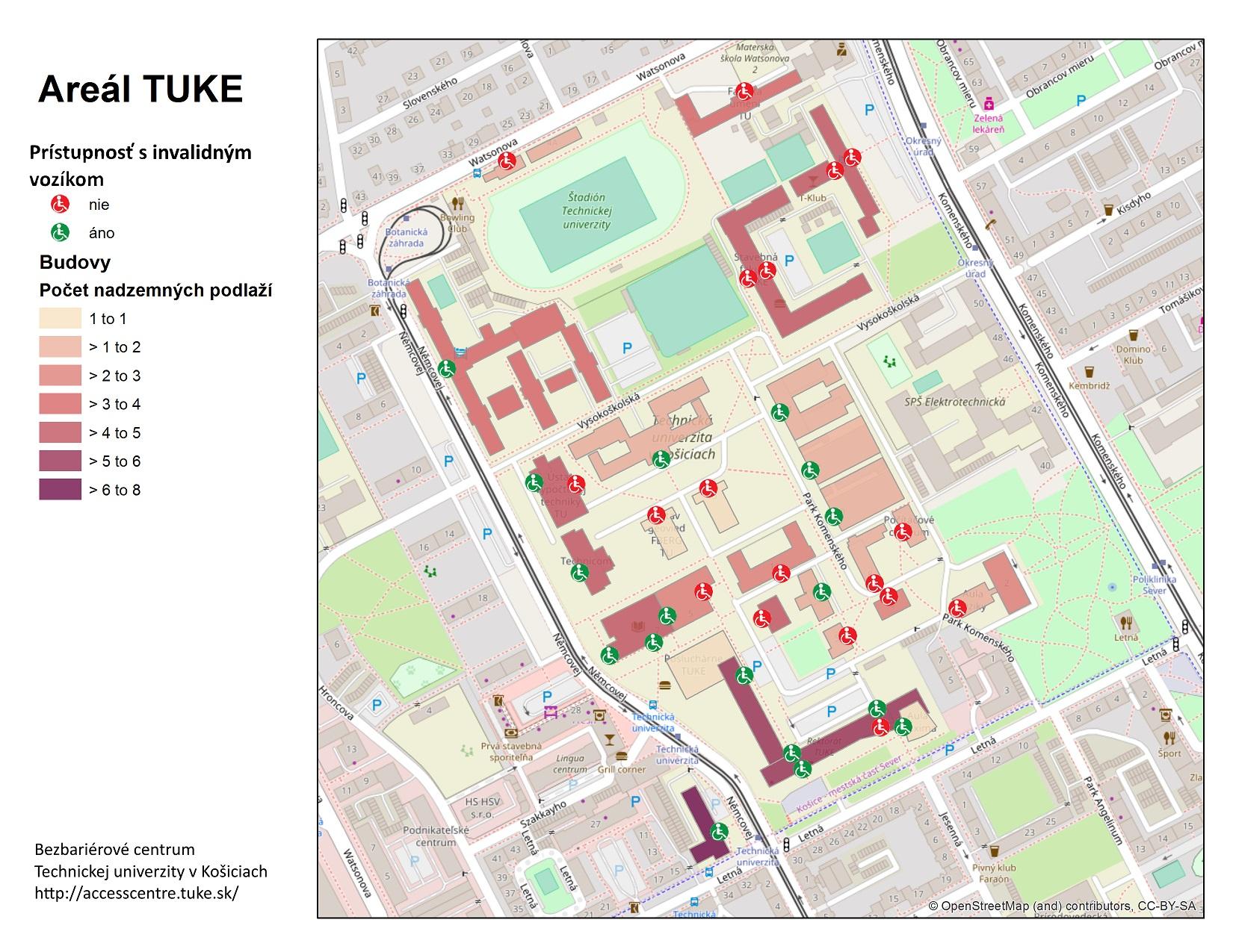Mapa prístupnosti TUKE