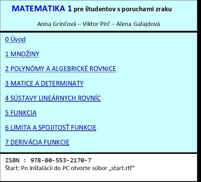Matematika 2 - obsah